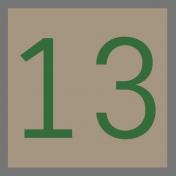 Christmas Number Tag 13