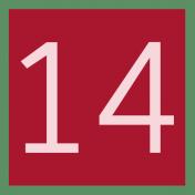 Christmas Number Tag 14