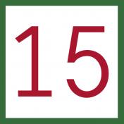 Christmas Number Tag 15