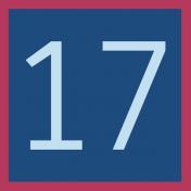 Christmas Number Tag 17