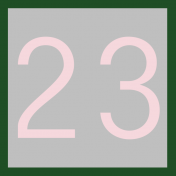 Christmas Number Tag 23