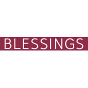 Christmas Day Word Label Blessings