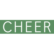 Christmas Day Word Label Cheer