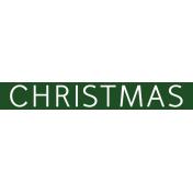 Christmas Day Word Label Christmas