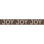 Christmas Day Word Label Joy