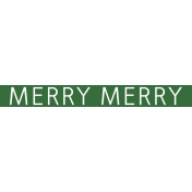 Christmas Day Word Label Merry