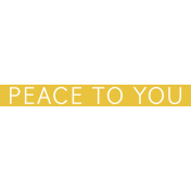 Christmas Day Word Label Peace