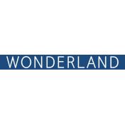 Christmas Day Word Label Wonderland