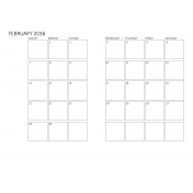 Monthly Calendar 2016 02