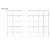 Monthly Calendar 2016 05
