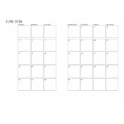 Monthly Calendar 2016 06