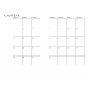 Monthly Calendar 2016 08