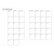 Monthly Calendar 2016 10