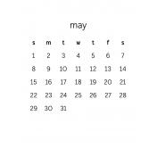 Monthly Calendar Journal Card 3x4 2016 05