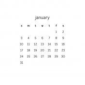 Monthly Calendar Journal Card 4x4 2016 01