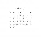 Monthly Calendar Journal Card 4x4 2016 02