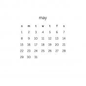 Monthly Calendar Journal Card 4x4 2016 05