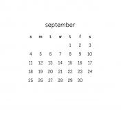 Monthly Calendar Journal Card 4x4 2016 09