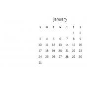 Monthly Calendar Journal Card 4x6 2016 01