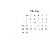 Monthly Calendar Journal Card 4x6 2016 02