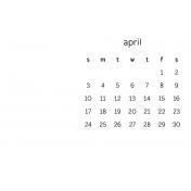 Monthly Calendar Journal Card 4x6 2016 04