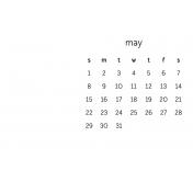 Monthly Calendar Journal Card 4x6 2016 05