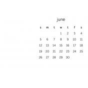 Monthly Calendar Journal Card 4x6 2016 06