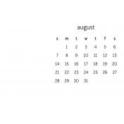 Monthly Calendar Journal Card 4x6 2016 08