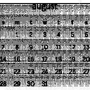 Monthly Calendar August 2016