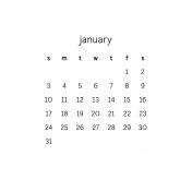 Monthly Calendar Half Letter January 2016