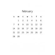 Monthly Calendar Half Letter February 2016