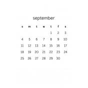 Monthly Calendar Half Letter September 2016