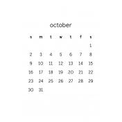 Monthly Calendar Half Letter October 2016