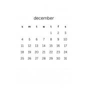 Monthly Calendar Half Letter December 2016