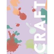 Crafty Evening Journal Card 01 3x4