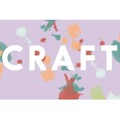 Crafty Evening Journal Card 01 4x6
