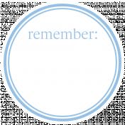 Basics Tag 01 Blue Light Remember