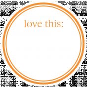 Basics Tag 01 Orange Love