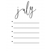 Month Pocket Card 02 July 3x4