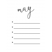 Month Pocket Card 02 May 3x4
