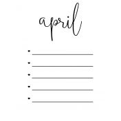 Month Pocket Card 02 April 3x4