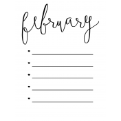 Month Pocket Card 02 February 3x4