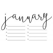 Month Pocket Card 02 January 4x6