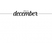 Month Pocket Card 04 December 4x6
