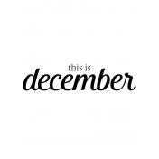 Month Pocket Card 04 December 3x4
