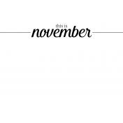 Month Pocket Card 04 November 4x6