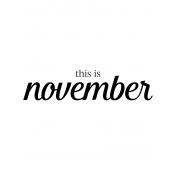 Month Pocket Card 04 November 3x4