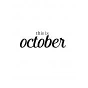 Month Pocket Card 04 October 3x4
