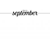 Month Pocket Card 04 September 4x6
