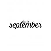Month Pocket Card 04 September 3x4